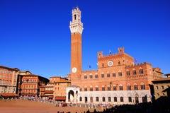 Piazza del Campo, Sienne Image stock