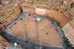 Piazza del Campo, Sienne, Italie Photos stock