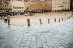 Piazza del Campo square Siena Tuscany Stock Photo
