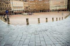 Piazza del Campo square Siena Tuscany stock photo