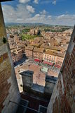 Piazza del Campo view from Torre del Mangia. Siena. Tuscany. Italy Royalty Free Stock Photo