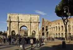 Piazza del Colosseo i Rome Royaltyfri Foto