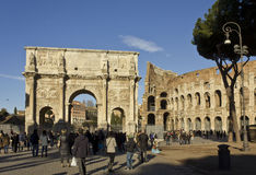 Piazza del Colosseo in Rome Royalty Free Stock Photo