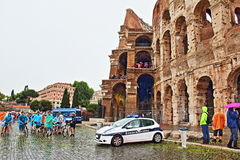 Piazza del Colosseo Rome Italy Stock Images
