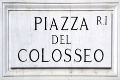 Piazza del Colosseo in Rome Stock Images