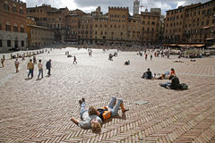 Piazza del Combo - Siena Royalty Free Stock Photo