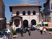 Piazza del Comune, Assisi, Italy Stock Photos