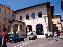 Piazza del Comune, Assisi, Italy Stock Images