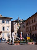 Piazza del Comune, Assisi, Italy Stock Photos