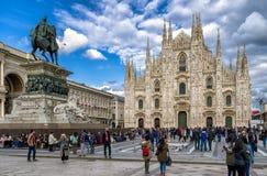 Piazza del Duomo,米兰-意大利 库存图片
