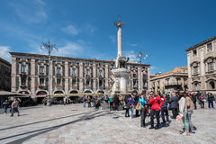 Piazza del Duomo à Catane Italie Image libre de droits