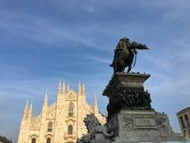 Piazza del Duomo, Μιλάνο, Ιταλία Στοκ φωτογραφία με δικαίωμα ελεύθερης χρήσης