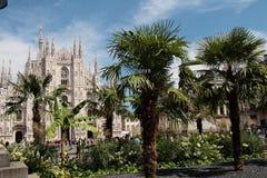 Piazza del Duomo, Μιλάνο, Λομβαρδία, Ιταλία Στοκ Εικόνες