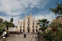 Piazza del Duomo, Μιλάνο, Λομβαρδία, Ιταλία Στοκ εικόνα με δικαίωμα ελεύθερης χρήσης