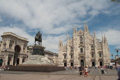 Piazza del Duomo, Μιλάνο, Λομβαρδία, Ιταλία Στοκ φωτογραφία με δικαίωμα ελεύθερης χρήσης