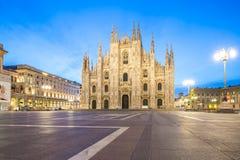 Piazza del Duomo av Milan i Italien arkivbild