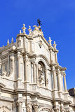 Piazza del Duomo in Catania with the Cathedral of Santa Agatha i Stock Photography