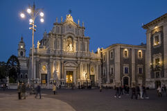 Piazza del Duomo in Catania Royalty Free Stock Photo