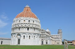 Pisa monuments. The Piazza del Duomo (Cathedral Square) in Pisa, Tuscany, Italy, recognized as one of the main centers for medieval art in the world. It is Stock Image