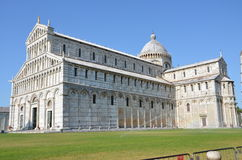 Pisa monuments - Duomo (cathedral). The Piazza del Duomo (Cathedral Square) in Pisa, Tuscany, Italy, recognized as one of the main centers for medieval art in Royalty Free Stock Image