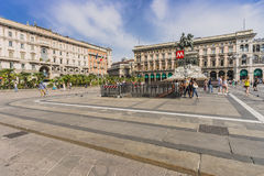 Piazza del Duomo ,  Central Square in Milano Stock Photography