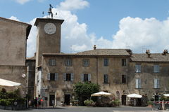 Piazza del Duomo and the clock tower  Orvieto, Terni - Italy Royalty Free Stock Images