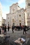 Piazza del Duomo in de stad van Florence, Italië Stock Foto's