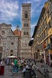 Piazza del Duomo en Florencia, Italia Imagenes de archivo