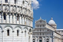 Piazza del Duomo en Piza foto de archivo libre de regalías