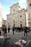 Piazza del Duomo in Florence city , Italy Stock Photos