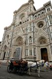 Piazza del Duomo in Florence city , Italy. Piazza del Duomo is located in the heart of the historic center of Florence, Tuscany , Italy. Is one of the most royalty free stock photo