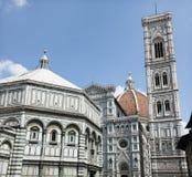 Piazza del Duomo Florence Italië stock afbeeldingen
