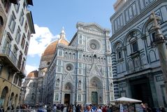 Piazza del Duomo Florence Italy Stock Image