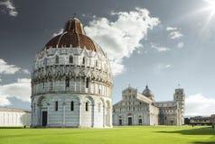 Piazza del Duomo i Pisa Fotografering för Bildbyråer