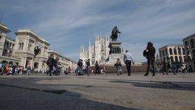 Piazza del Duomo, lasso di tempo stock footage