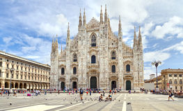 Piazza del Duomo. Lombardy, Italy. Stock Photography
