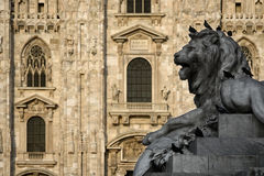 Piazza del Duomo, Milaan (Italië) Stock Afbeelding