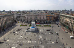 Piazza del Duomo - Milaan - Italië Stock Foto's