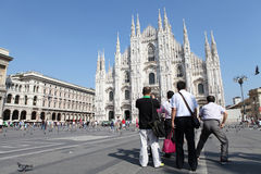 Piazza del Duomo, Milan Royalty Free Stock Photo