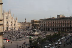 Piazza del Duomo in Milan Stock Photo