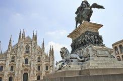 Piazza del Duomo of Milan, Italy Stock Photos