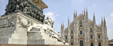 Piazza del Duomo of Milan, Italy Royalty Free Stock Images