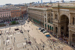 Piazza del Duomo in Milan Royalty Free Stock Photography