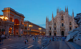 Piazza del Duomo, Milan Royalty Free Stock Images