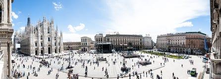 Piazza Del Duomo Milano Zdjęcia Stock