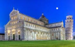 Piazza del Duomo o dei奇迹Miracoli或大教堂广场,比萨,意大利 免版税库存照片