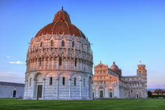 Piazza del Duomo o dei Miracoli or Cathedral Square of Miracles, Royalty Free Stock Images
