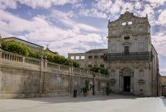 Piazza del Duomo Ortigia Στοκ φωτογραφία με δικαίωμα ελεύθερης χρήσης