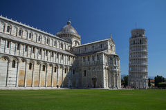 Piazza del Duomo in Pisa (Italië) Stock Foto
