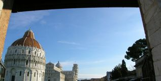 Piazza del Duomo, Pisa, Italien Arkivbilder